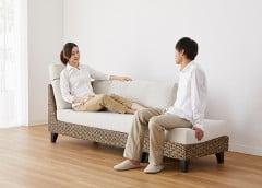 様々な座り方で寛げる