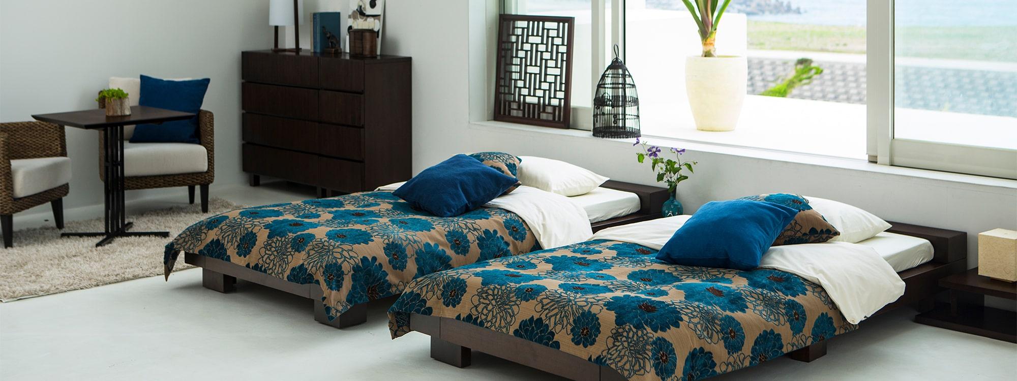 ベッドルーム ~アジアン家具~