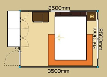 6畳BED -Dサイズ- 2D