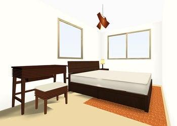 6畳BED -Dサイズ- 3D