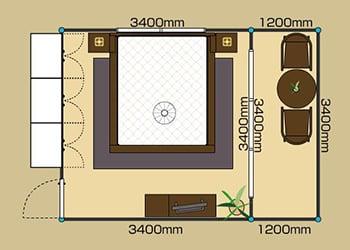 8畳BED -Qサイズ- 2D