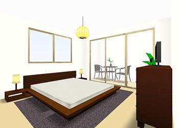 8畳BED -Qサイズ- 3D