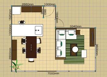 リビングダイニングルーム:3LDK 16畳 2D
