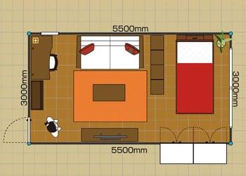 家具のレイアウト例 | a.flat その暮らしに、アジアの風を