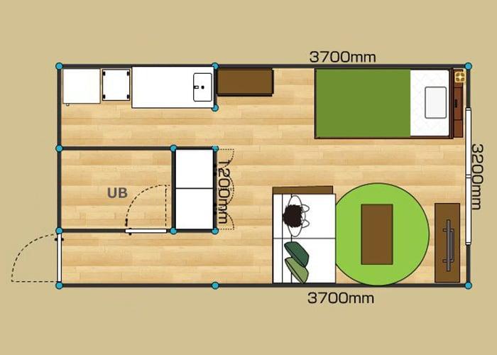 ワンルーム・一人暮らしの部屋の家具配置とレイアウト例 ~6畳 ...