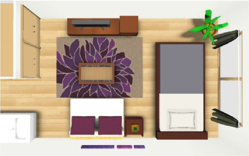 寝室のレイアウト例【8畳】