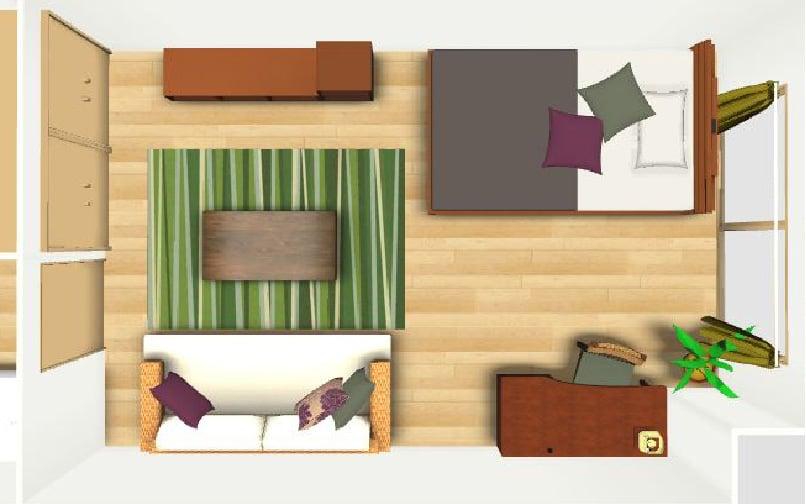 寝室のレイアウト例【10畳】