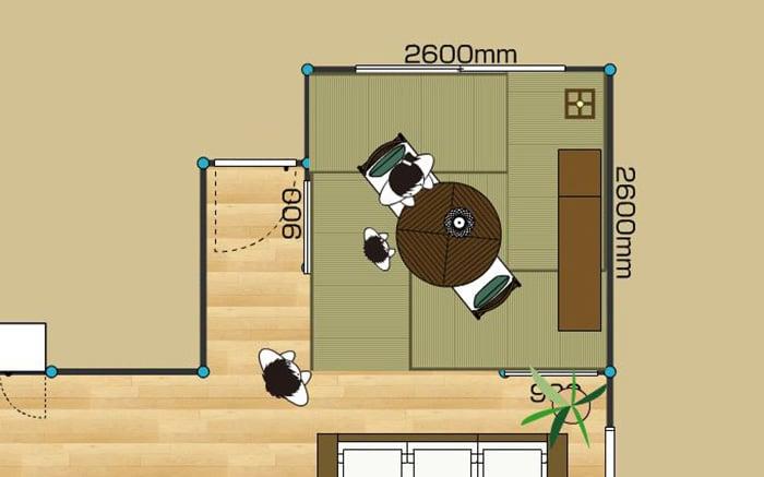 和室のレイアウト例