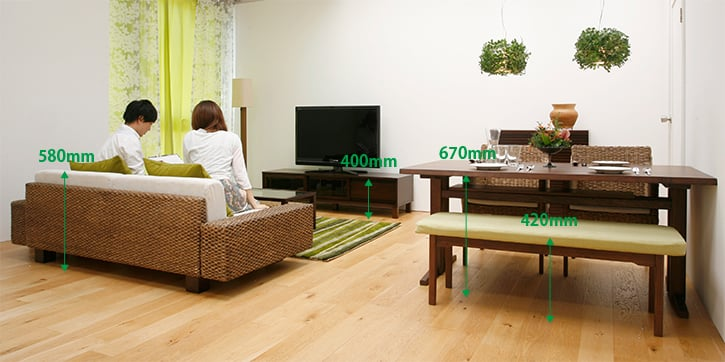 LIVING DINING ROOM(12~14畳):LOW ...