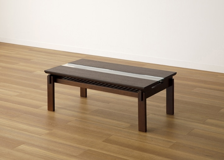 クミ・ガラス・ローテーブル:画像12