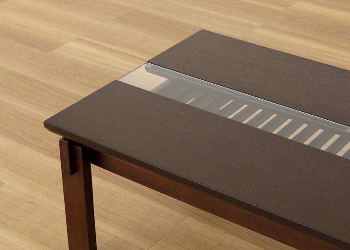 クミ・ガラス・ローテーブル:画像16