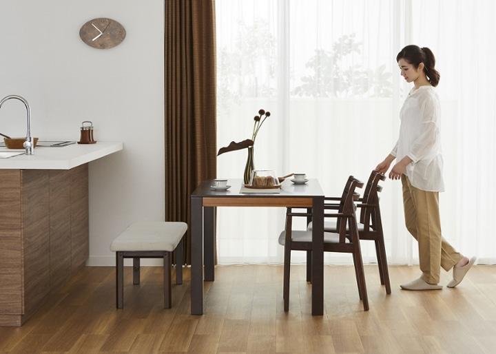バンブー・ダイニングテーブルv02 1400:画像14