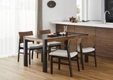 バンブー・ダイニングテーブルv02 1400 セット 椅子4脚