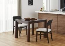 エクステンション・ダイニングテーブルv02 950 セット 椅子2脚