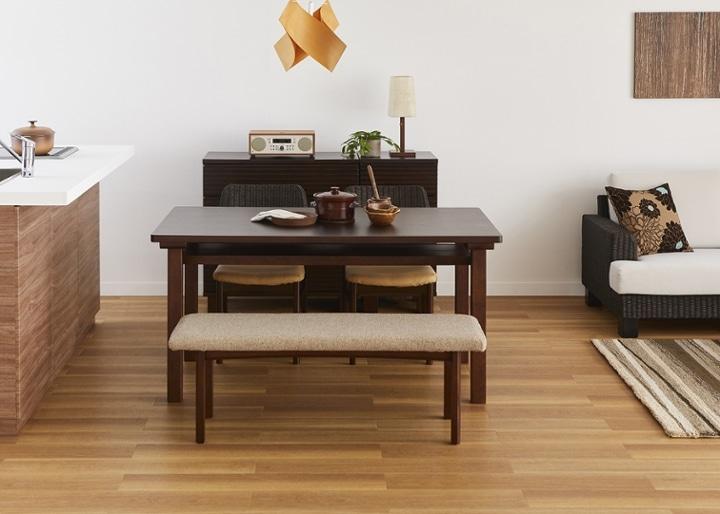 ムク・ダイニングテーブル 1450:画像11