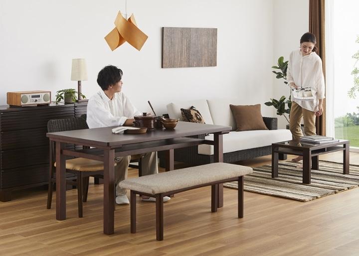 ムク・ダイニングテーブル 1450:画像12