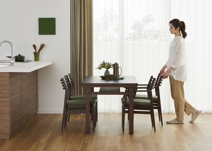 ムク・ダイニングテーブル 1450:画像14