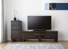 ルーバー・テレビボードv02 H v01セット