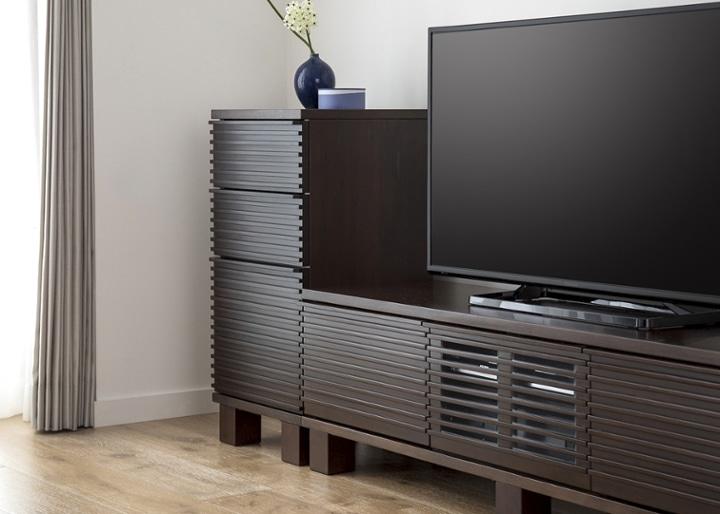 ルーバー・テレビボードv02 H v01 セット:画像3
