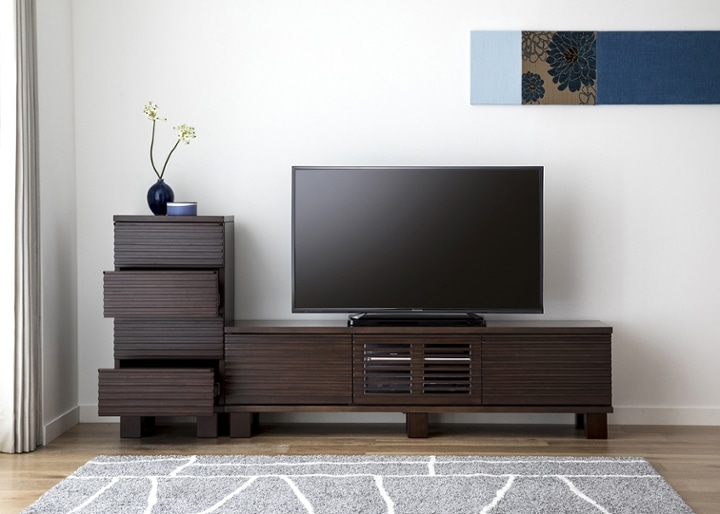 ルーバー・テレビボードv02 H v01 セット:画像7