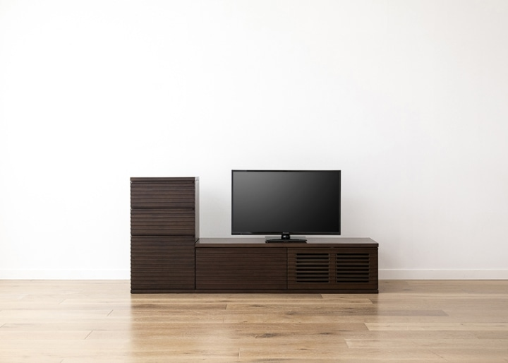 ルーバー・テレビボードv02 L v01 セット:画像12