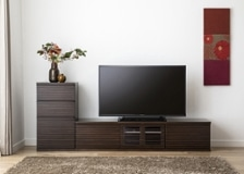 ルーバー・テレビボードv02 L v01セット