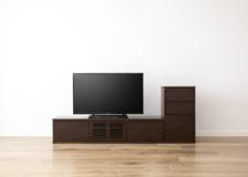 ルーバー・テレビボードv02 1500 L v01 セット(425 D1 R)R