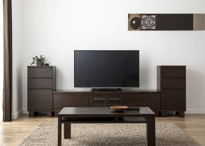 ルーバー・テレビボードv02 H v02 セット:画像1
