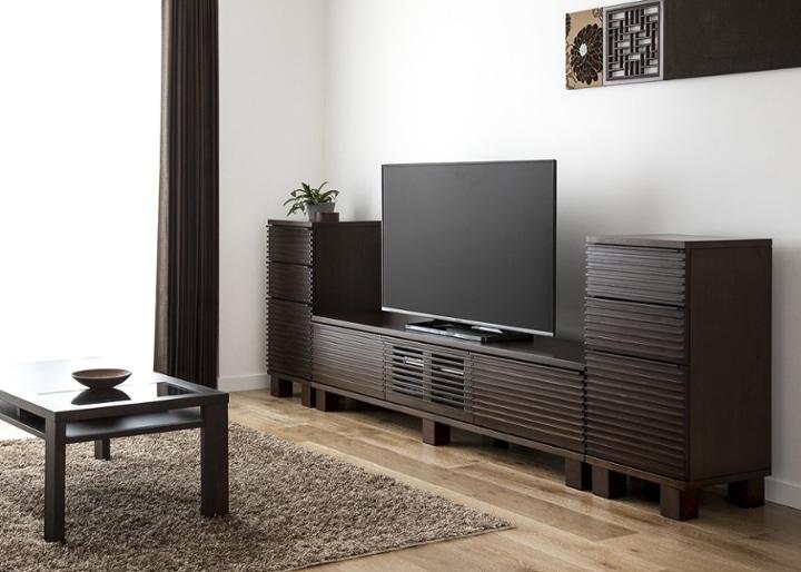 ルーバー・テレビボードv02 H v02 セット:画像2