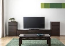 ルーバー・テレビボードv02 L v02セット