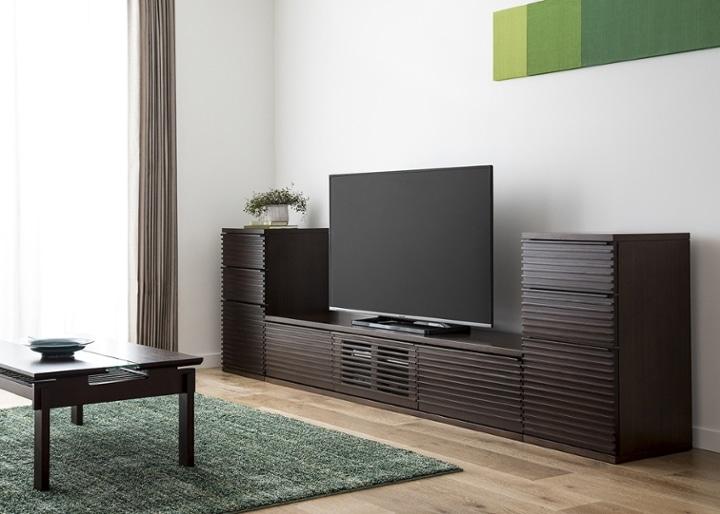ルーバー・テレビボードv02 L v02セット:画像2