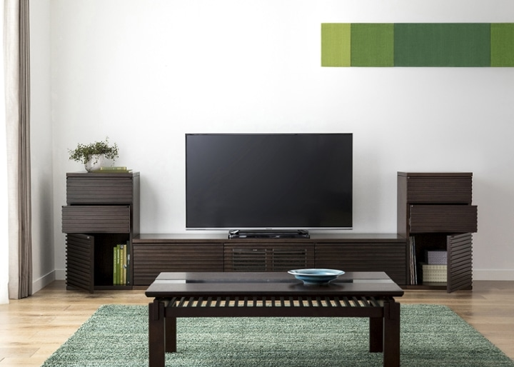 ルーバー・テレビボードv02 L v02セット:画像5