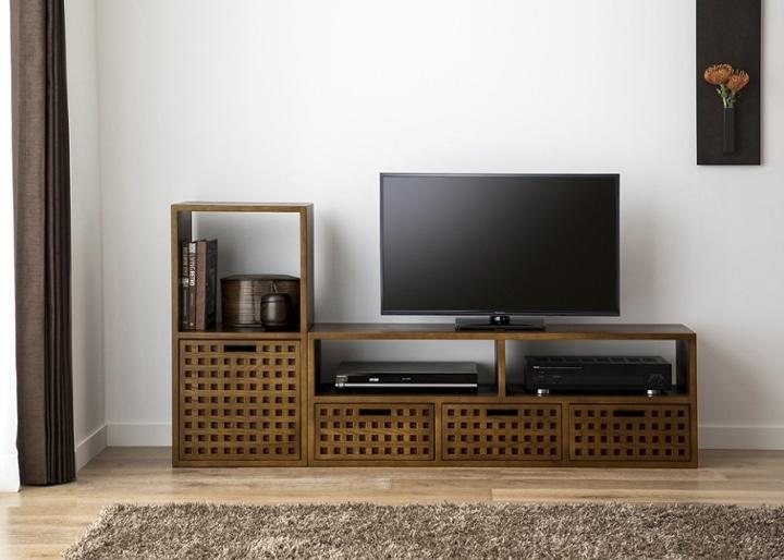キューブ・テレビボード (GB) v01 セット:画像1