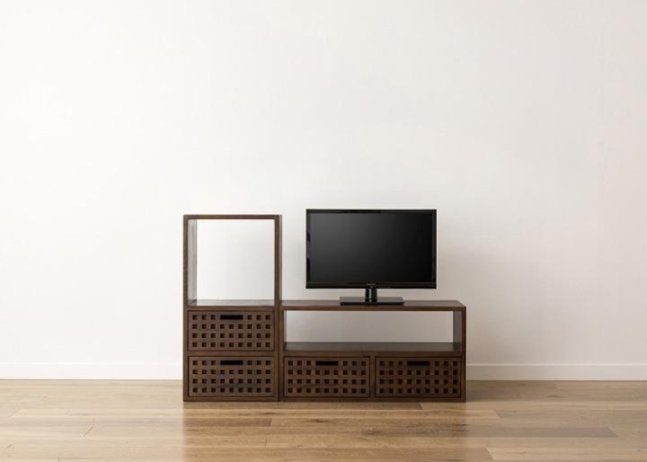 キューブ・テレビボード (GB) v01 セット:画像14