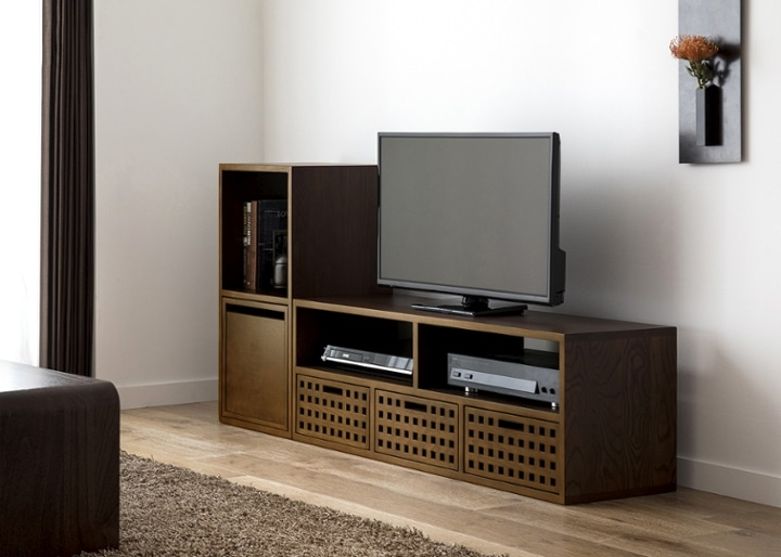 キューブ・テレビボード (GB) v01 セット:画像2