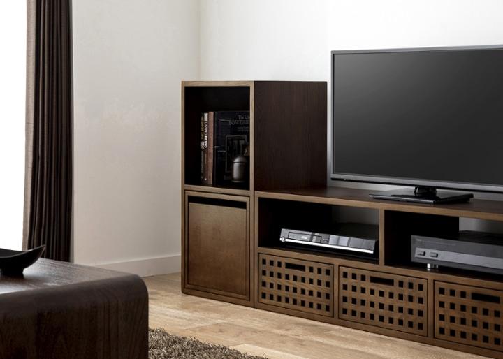 キューブ・テレビボード (GB) v01 セット:画像3