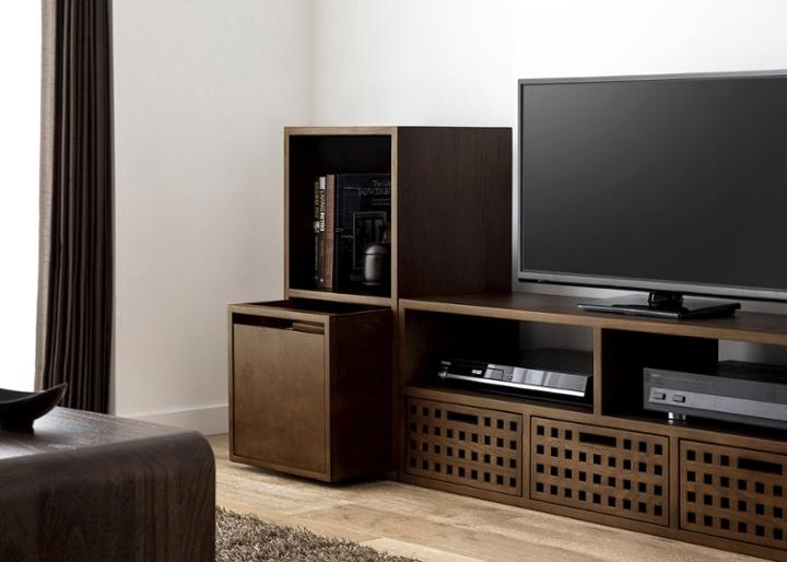 キューブ・テレビボード (GB) v01 セット:画像4