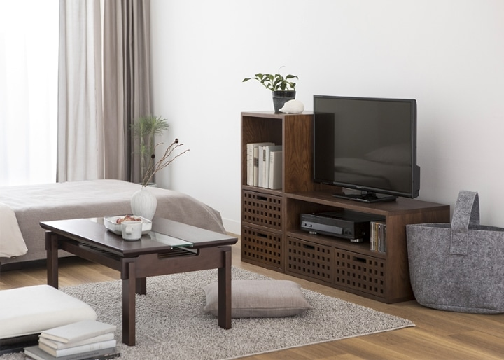 キューブ・テレビボード (GB) v01 セット:画像5