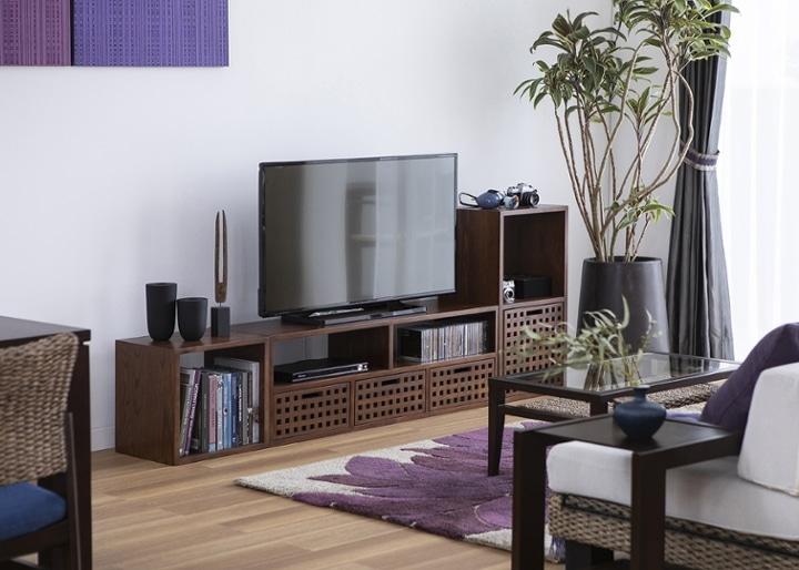 キューブ・テレビボード (GB) v01 セット:画像7