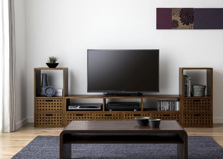キューブ・テレビボード (GB) v02 セット:画像1