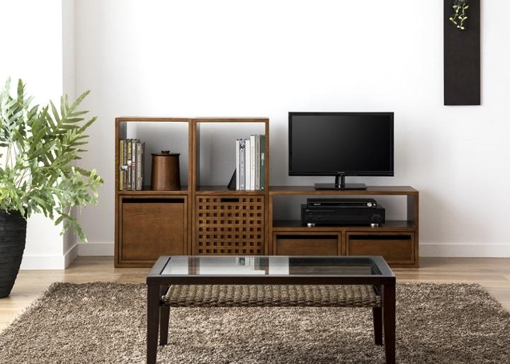 キューブ・テレビボード (GB) v02 セット:画像10