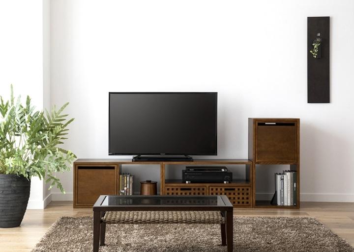 キューブ・テレビボード (GB) v02 セット:画像11