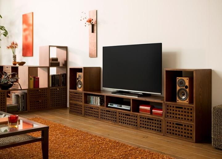 キューブ・テレビボード (GB) v02 セット:画像12