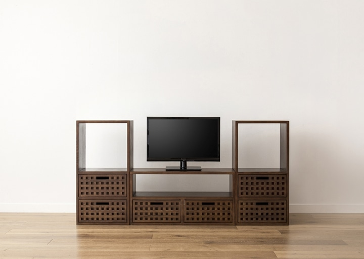 キューブ・テレビボード (GB) v02 セット:画像14