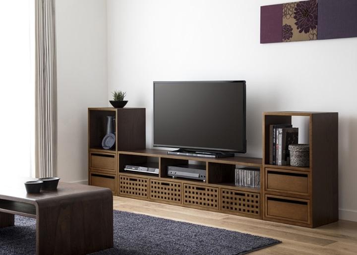 キューブ・テレビボード (GB) v02 セット:画像2