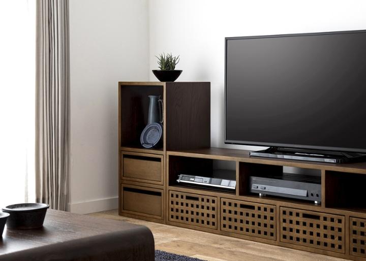キューブ・テレビボード (GB) v02 セット:画像3