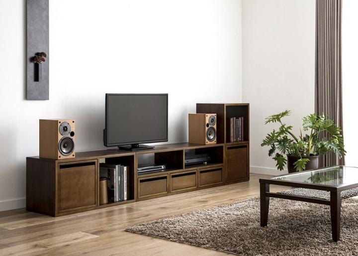 キューブ・テレビボード (GB) v02 セット:画像5