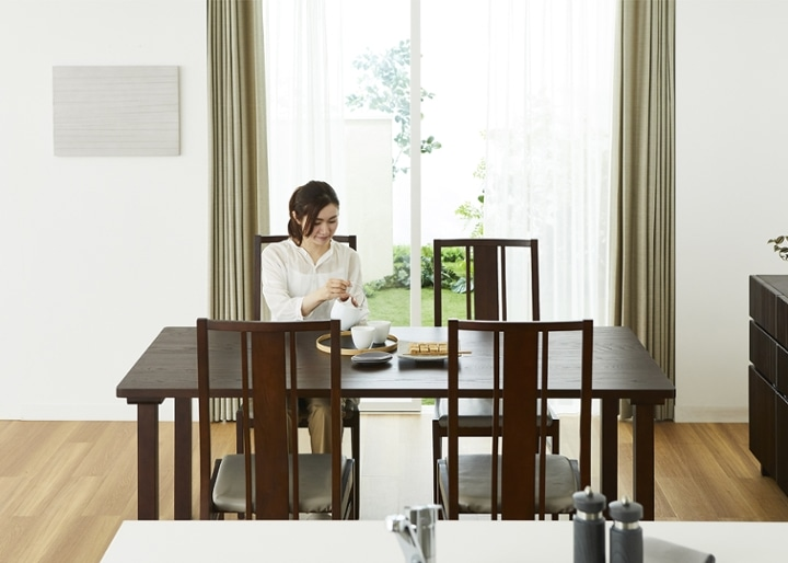 ムク・ダイニングテーブル 1800:画像5