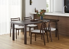 ムク・ダイニングテーブル 1800 セット 椅子4脚