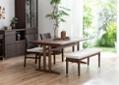 ローダイニングテーブル 1500 セット ベンチv01+椅子2脚:画像3